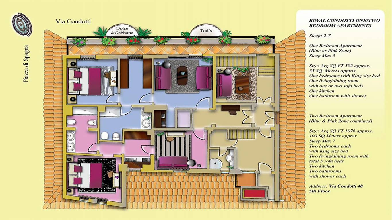 The-Inn-At-The-Spanish-Steps-piantina-1-2-bed-con